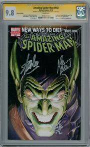 Amazing Spider-man #568 Variant CGC 9.8 Signature Series Signed x3 Stan Lee Romita Jr Marvel comic